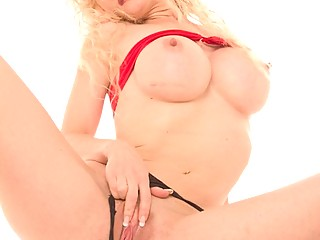 Big tit blonde wife takes a stranger cock from behind